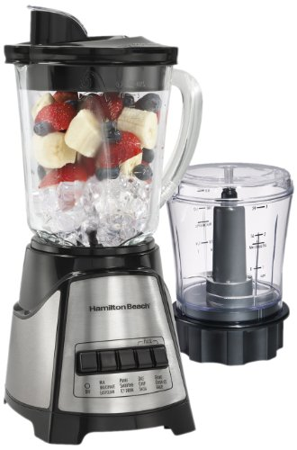 Hamilton Beach Power Elite Multi-Function Blender with Glass Jar and Chopper (58149) (Glass Chopper compare prices)