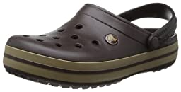 crocs Unisex Crocband Clog,Espresso/Khaki,Men\'s 6 M US/ Women\'s 8 M US