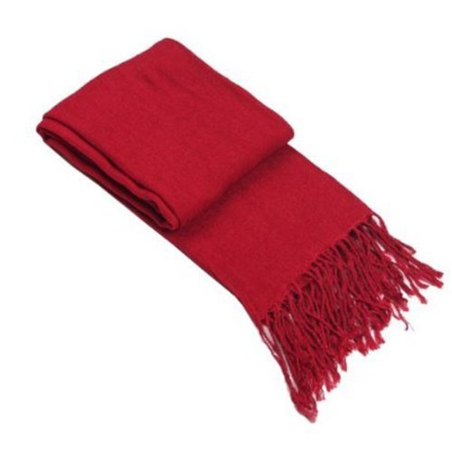 Attack on Titan Mikasa Ackerman Wine Red Cashmere Scarf - 1