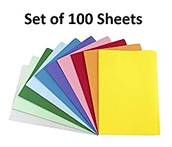 Premium Pack of 100 Sheets Smooth Finish A4 Size Assorted Colors Copy Copier Printing Papers - Home, School, Office Stationery