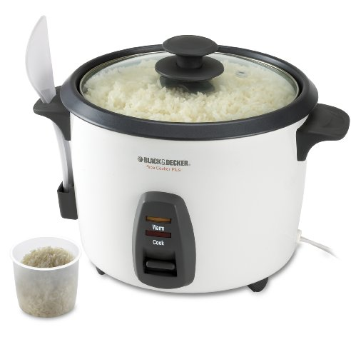 Great Deal! Black & Decker RC436 16-Cup Rice Cooker, White