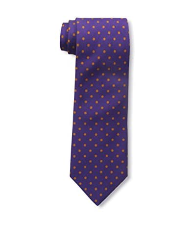J.McLaughlin Men's Dot Wool Blend Tie, Purple/Orange
