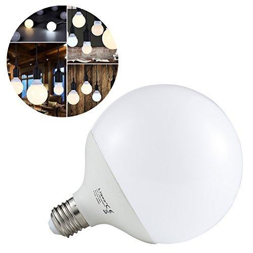 Liqoo® 15W E27 LED Lampada sferica, lampadina globo, bianco caldo 2800K, 1300 Lumen, 270º, 2835 SMD, Ø120 x 156mm sostituisce 90W