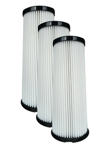 (3) Dirt Devil F1 Bagless Upright Vision Pleated Hepa Filter, Breeze, Featherlite, Jaguar, Kinetix Self Propelled, Scorpion, Ultra Swivel, Power Streak, P.F. Self Propelled / Commercial Plastic Upright Vacuum Cleaners, 3Jc0280000, 2881210000, 2Jc0360000