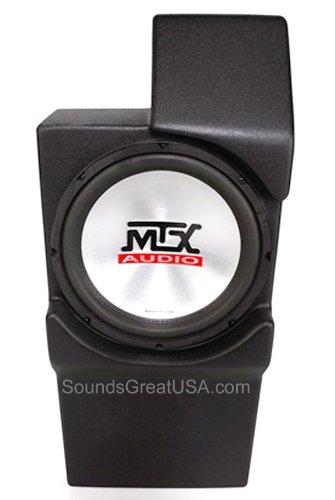 "Mtx Loaded, Amplified Sub Enclosure For Chevy Silverado, Tahoe, Suburban Gmc Sierra, Yukon, Denali (And Xl) Cadillac Escalade 2007-2010 W Bucket Seats W 10"" Mtx Sub"