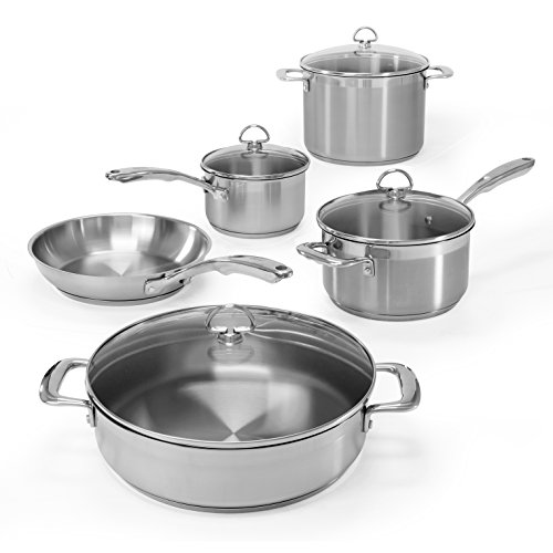 Chantal SLIN-9 Induction 21 Steel 9 Piece Cookware Set (Chantal Induction 21 compare prices)