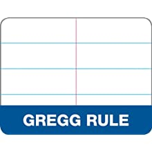 TOPS Docket Gold Classified Spiral Steno Book, Gregg Rule, 6 x 9 Inches, White, 100 Sheets per Pad (99708)