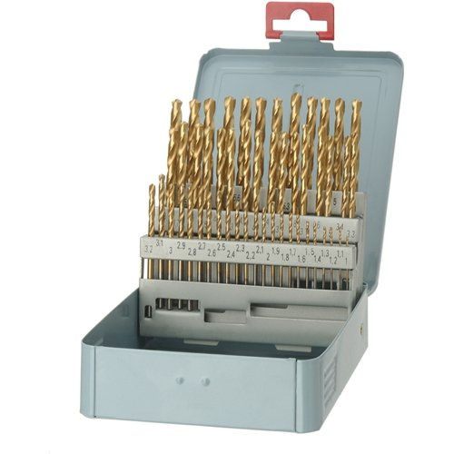 Grizzly G9753 Tin Coated Drill Set, 50-Piece Metric