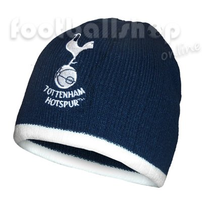 TOTTENHAM HOTSPUR OFFICIAL BRONX BEANIE KNITTED HAT ONE SIZE