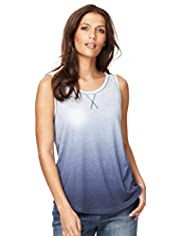 Indigo Collection Dip Dye Vest Top