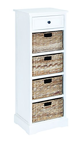 Benzara 96190 Basket Cabinet Combination Of Functionality And Design front-973438