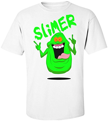 Ghostbusters Slimer Name Men's T-Shirt Large
