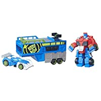 Playskool Heroes Transformers Rescue Bots Optimus Prime Racing Trailer by Hasbro