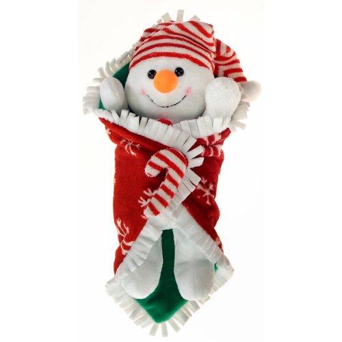 Ddi 561241 Blanket Babies- 11 In. Snowman In Christmas Blanket Case Of 12 front-957778