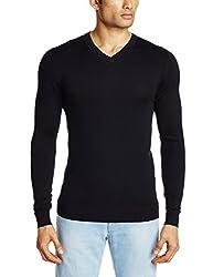 Celio Men's Viscose Sweater (3596654106689_Ceclassaw15_X-large_Navy)
