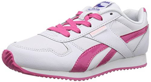 Reebok - Royal Classic Jogger, Senakers a collo basso infantile, bianco (white/candy pink/polished pink), EU 32 (UK 1 / US 1.5)