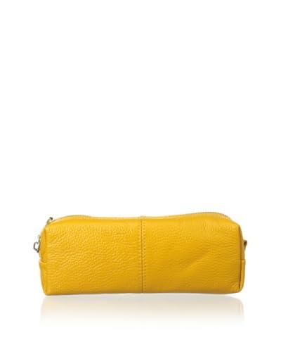 Zenith Women's Leather Cosmetic Case, Mustard
