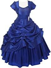 Chic Baby Royal Blue Layered Bolero Pageant Dress Set Little Girl 4