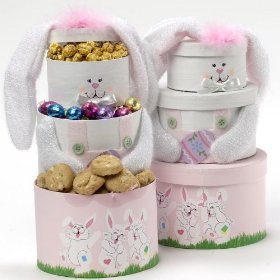SCHEDULE YOUR DELIVERY DAY Somebunny Special Pink Bunny Gift Tower *Pink*