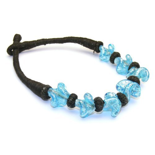 Franki Baker Blue Glass Bead Choker (15.5