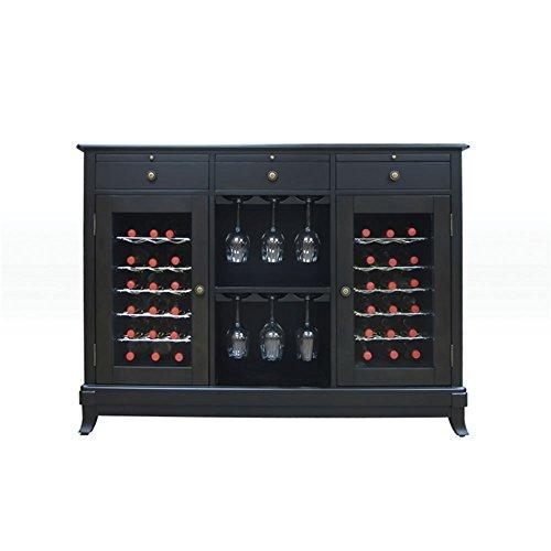 Vinotemp Cocktail Storing Accessories Cava 36-Bottle Dual-Zone Thermoelectric Wine Credenza Espresso Finish
