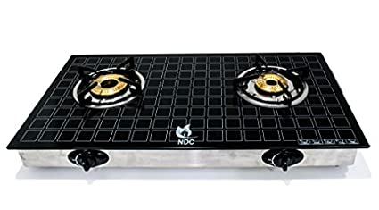 Ndc 2B-01 Toughened Glass Gas Cooktop (2 Burner)