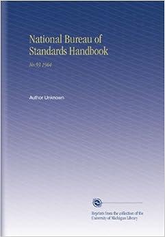national bureau of standards handbook 1964 author unknown books. Black Bedroom Furniture Sets. Home Design Ideas