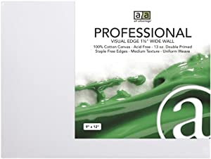 Art Advantage 12-Inch by 12-Inch Professional Wide Wall Canvas