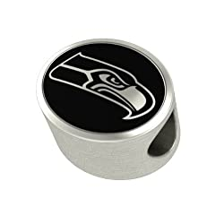 Seattle Seahawks NFL Jewelry and Bead Fits Most European Style Bracelets. High Quality Bead in Stock for Immediate Shipping