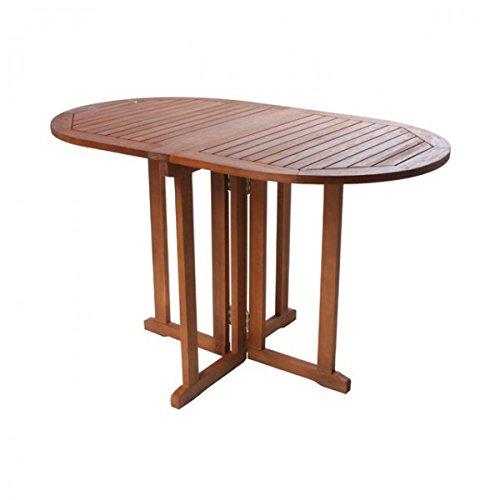 Gartentisch BALTIMORE klappbar Gartentisch oval Balkontisch 120x70cm Gartenmöbel Holz günstig online kaufen