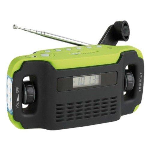 Clip Sonic RA1025 Radiowecker Mini-USB schwarz/grün