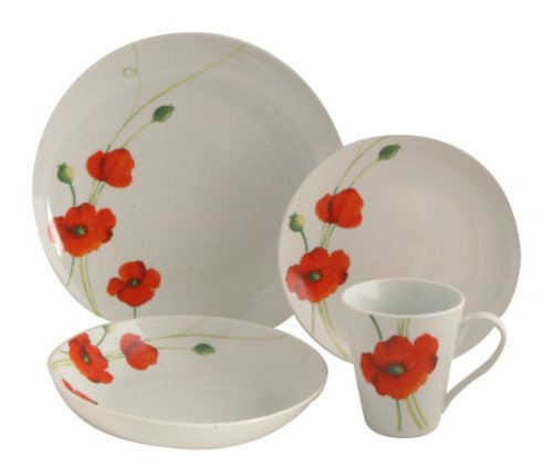 Details for Rayware Alpine Poppy Dinner Set, 16 Piece by Rayware