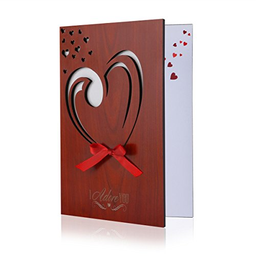 Wooden Valentines Day Love Cards