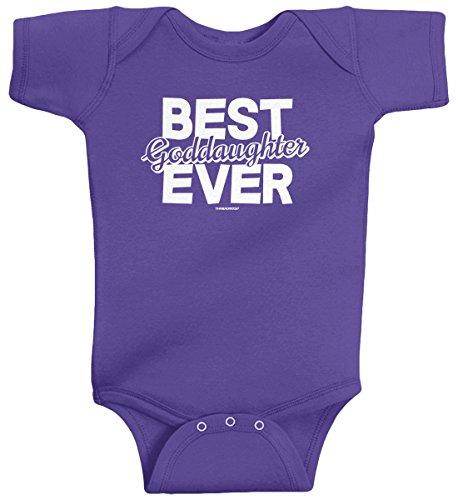 Threadrock Baby Girls' Best Goddaughter Ever Infant Bodysuit 18M Purple
