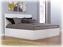 Hot Sale White King Platform Bed by Ashley Furniture