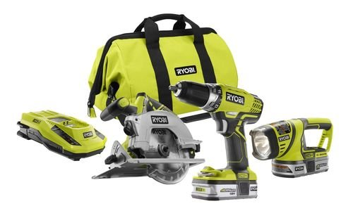 Factory-Reconditioned Ryobi ZRP846 ONE Plus 18V Cordless Lithium-Ion 3-Piece Combo Kit