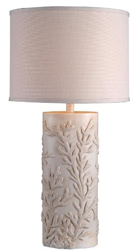 Kenroy Home 32267AWH Reef Table Lamp, Antique White