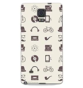 MiiCreations 3D Printed Back Cover for Samsung Galaxy Note 4,Music Pattern