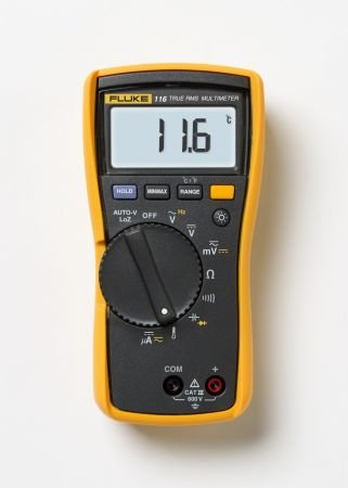 116 Hvac Multimeter With Temperature And Microamps With Double Sided Foam Tape