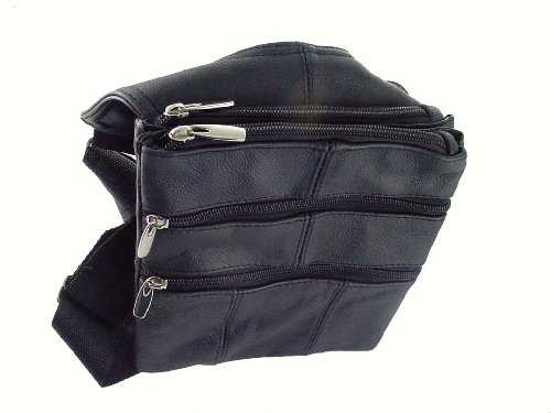 Leather Multi-pocket Shoulder Travel Bag – 98133
