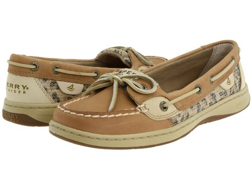 Sperry Top-Sider Women's Angelfish, Linen / Leopard Sequin Deals