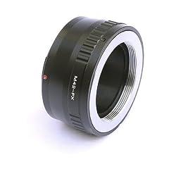 Fotasy AF42 Adjustable Copper M42 42mm Screw Mount Lens to Fujifilm FX Mount Camera Adapter