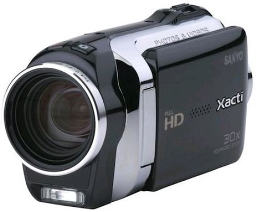 Sanyo VPC-SH1EXBK Xacti SH1 Full HD Dual Camcorder with 10M Photos and HDMI - Black