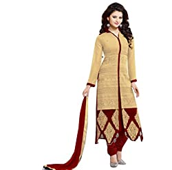 Zeel Fashion Women's Cotton Unstitched Dress Material (zf02_Yellow_Free Size)
