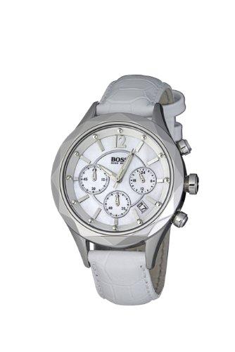 Hugo Boss 1502167 - Reloj analógico de cuarzo para mujer con correa de piel, color blanco