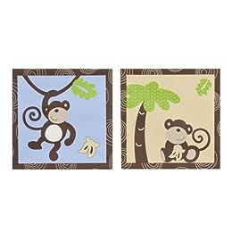 Product Image Monkey Time Canvas Art - Set of 2