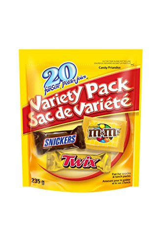 Variety of Snickers, Twix and M&Ms Fun Size Stand Up Pouch, 235g