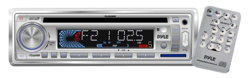 Stereo Radio Headunit Receiver, MP3/USB/SD Readers, CD Player, Aux (3.5mm) Input, AM/FM Radio, Single DIN (White)