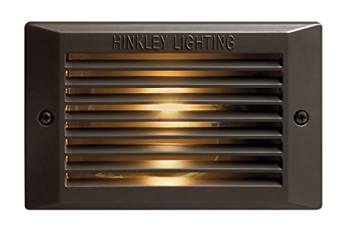 Hinkley Lighting 58015BZ-LED 120-Volt Line-Voltage LED Step Light with 1.5-Watt LED Light Source, Bronze Powder Coat