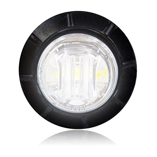 "Maxxima M09300Wcl White 3/4"" Round Led Clear Lens Courtesy Marker Light"